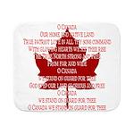 Canada Anthem Souvenir Sherpa Fleece Throw Blanket