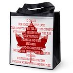 Canada Anthem Souvenir Reusable Grocery Tote Bag