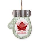 Canada Anthem Souvenir Mitten Ornament