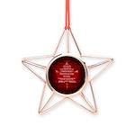 Canada Anthem Souvenir Copper Star Ornament