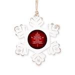 Canada Anthem Souvenir Rustic Snowflake Ornament