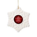 Canada Anthem Souvenir Snowflake Ornament