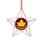 Canada Varsity Team Copper Star Ornament