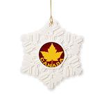 Canada Varsity Team Snowflake Ornament