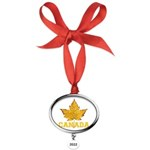 Canada Varsity Team Oval Year Ornament