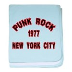 PUNK ROCK 1977 NEW YORK CITY baby blanket