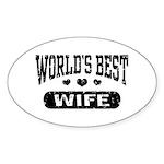 World's Best Wife Sticker (Oval)