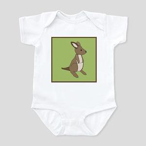 kangaroo (green) Infant Bodysuit