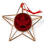 Cool Canada Maple Leaf Souvenirs Copper Star Ornam