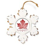 Cool Canada Maple Leaf Souvenirs Rustic Snowflake