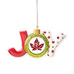 Cool Canada Maple Leaf Souvenirs Joy Ornament