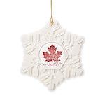 Cool Canada Maple Leaf Souvenirs Snowflake Ornamen