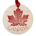 Cool Canada Souvenir Maple Round Ornament