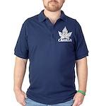 Cool Canada Maple Leaf Souvenir Dark Polo Shirt