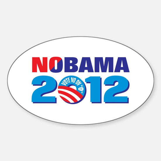 NOBAMA 2012 Sticker (Oval)
