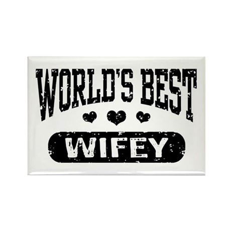 World's Best Wifey Rectangle Magnet