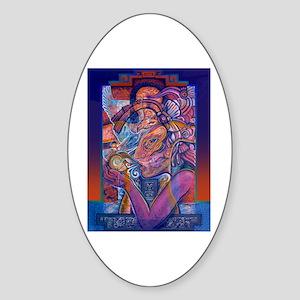 Offering to Quetzalcoatl Sticker (Oval)