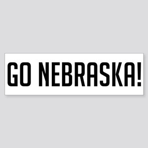 Go Nebraska! Bumper Sticker
