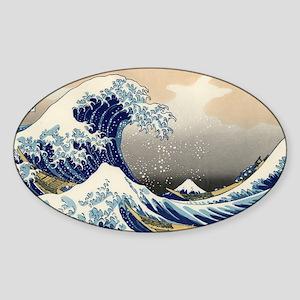 Katsushika Hokusai Sticker (Oval)