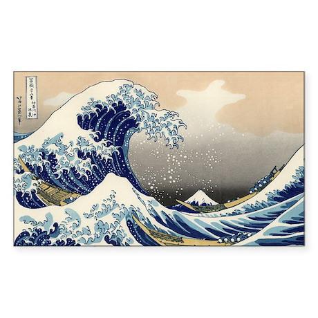 Katsushika Hokusai Sticker (Rectangle)