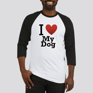 I Love My Dog Baseball Jersey