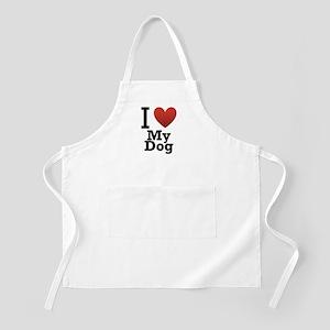 I Love My Dog Apron