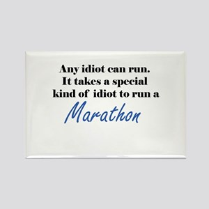 Idiot to run marathon Rectangle Magnet