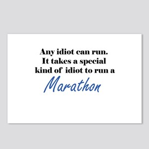 Idiot to run marathon Postcards (Package of 8)