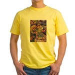 Huichol Eagle Yellow T-Shirt