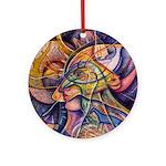 Huichol Eagle Ornament (Round)