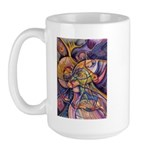 Huichol Eagle Large Mug