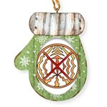 Tribal Spirit Elements Art Mitten Ornament