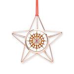 Tribal Spirit Elements Art Copper Star Ornament