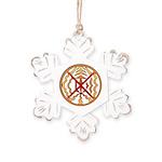 Tribal Spirit Elements Art Rustic Snowflake Orname