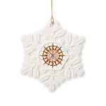 Tribal Spirit Elements Art Snowflake Ornament