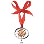 Tribal Spirit Elements Art Oval Year Ornament