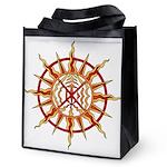 Tribal Spirit Elements Art Reusable Grocery Tote B