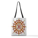 Tribal Spirit Elements Art Polyester Tote Bag