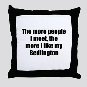 Bedlington Throw Pillow
