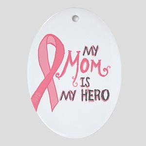 Mom Hero Ornament (Oval)