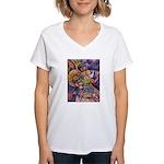 Huichol Eagle Women's V-Neck T-Shirt