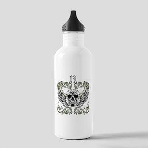 13 Hour Skull Clock Stainless Water Bottle 1.0L