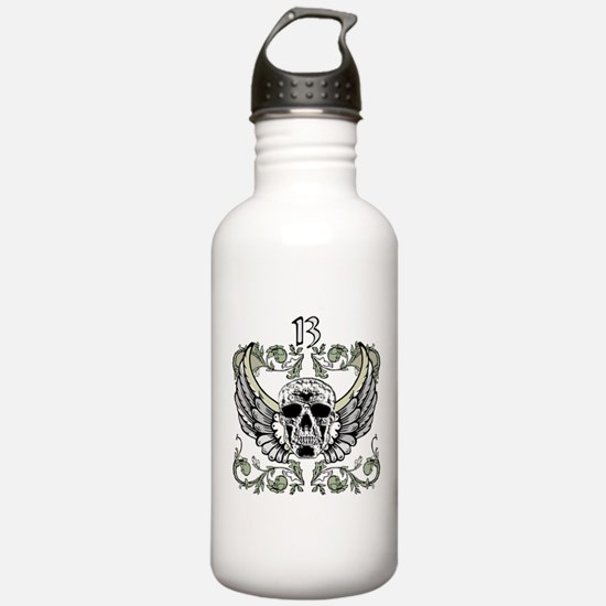 13 Hour Skull Clock Water Bottle