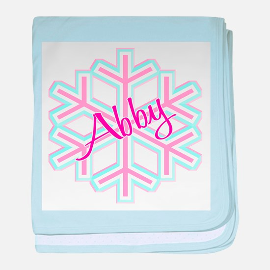 Snowflake Abby baby blanket