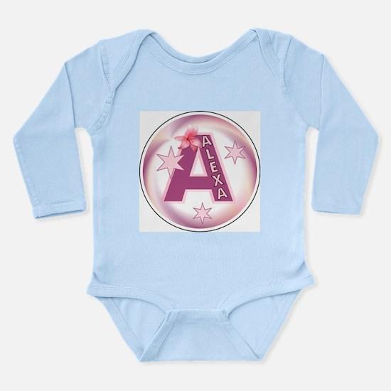 Alexa 1 inch Star Initial Long Sleeve Infant Bodys
