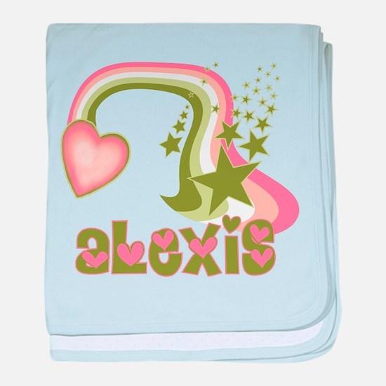 Rainbows & Stars Alexis Perso baby blanket