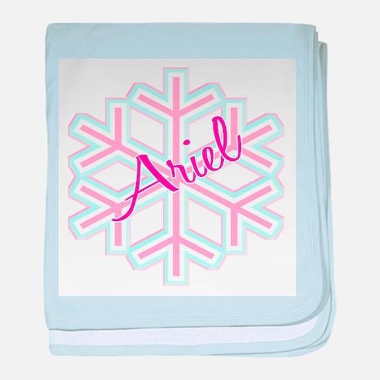 Ariel Snowflake Personalized baby blanket