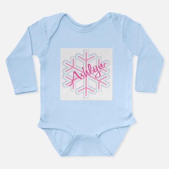 Ashlyn Snowflake Personalized Long Sleeve Infant B
