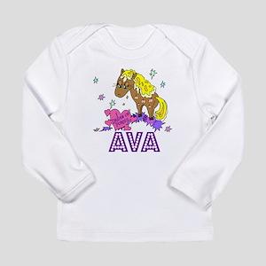 I Dream Of Ponies Ava Long Sleeve Infant T-Shirt