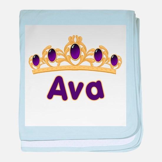 Princess Tiara Ava Personaliz baby blanket